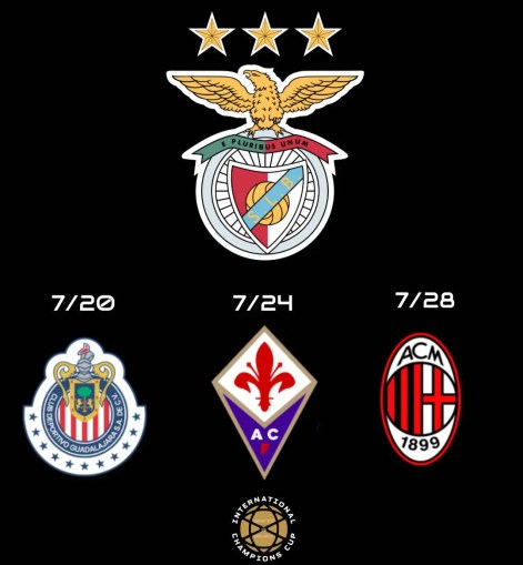 Benfica opponents in International Champions Cup