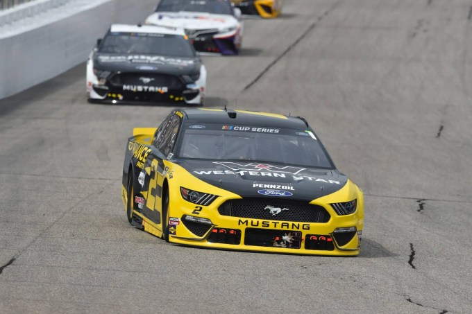 Brad Keselowski On His Way To His Second Win At New Hampshire