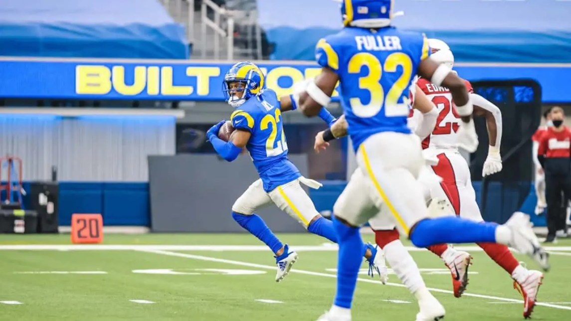 Troy Hill Returns An Interception For A Touchdown As The Rams D Shines All Day