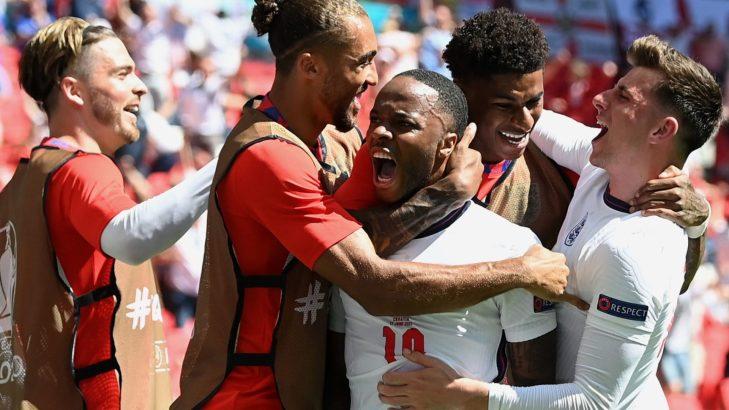 England Celebrate Opening Game Win Over Croatia