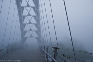 White Bridge in the fog