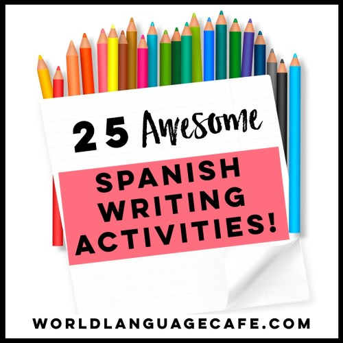 small resolution of 25 Spanish Writing Activities