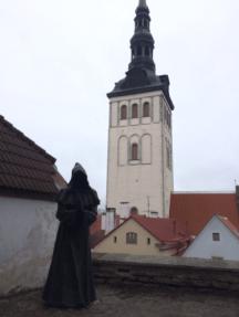 Monk in the Danish King's Garden, Tallinn