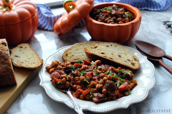 stewed goat with chickpeas