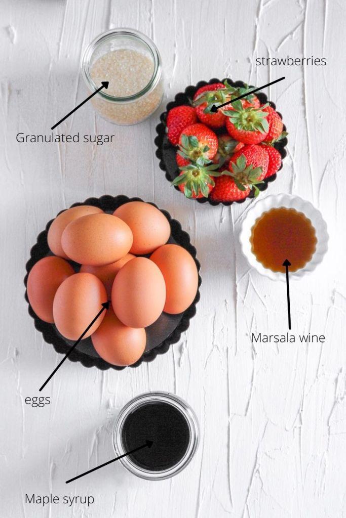 ingredients for zabaglione