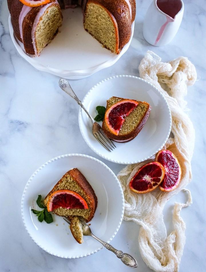 blood orange poppy seed bundt cake