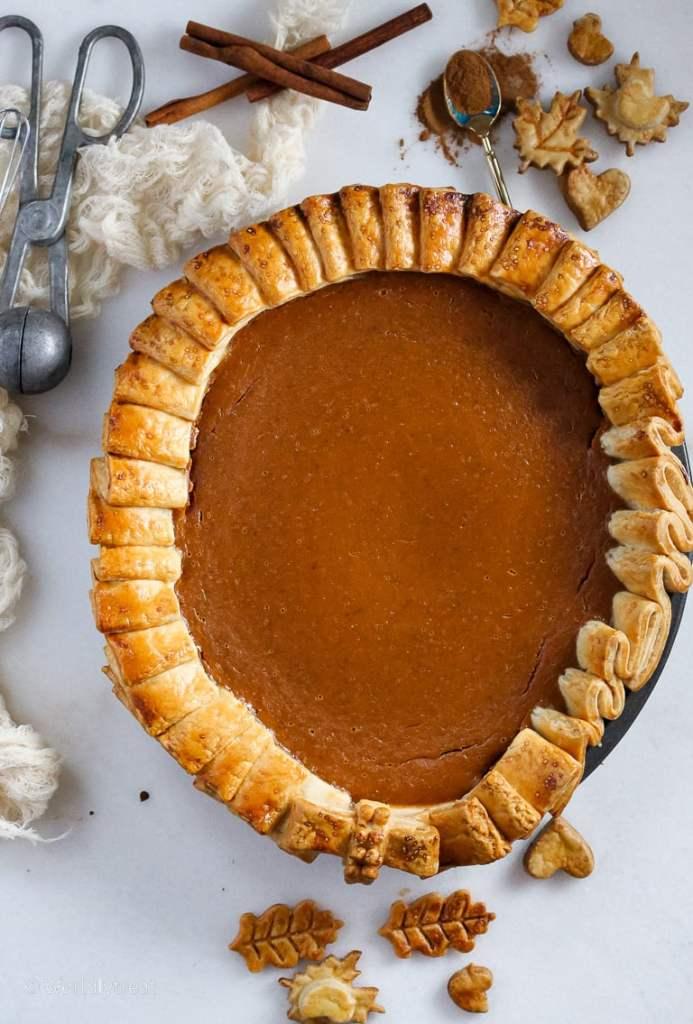 Dulce de leche Pumpkin Pie-3