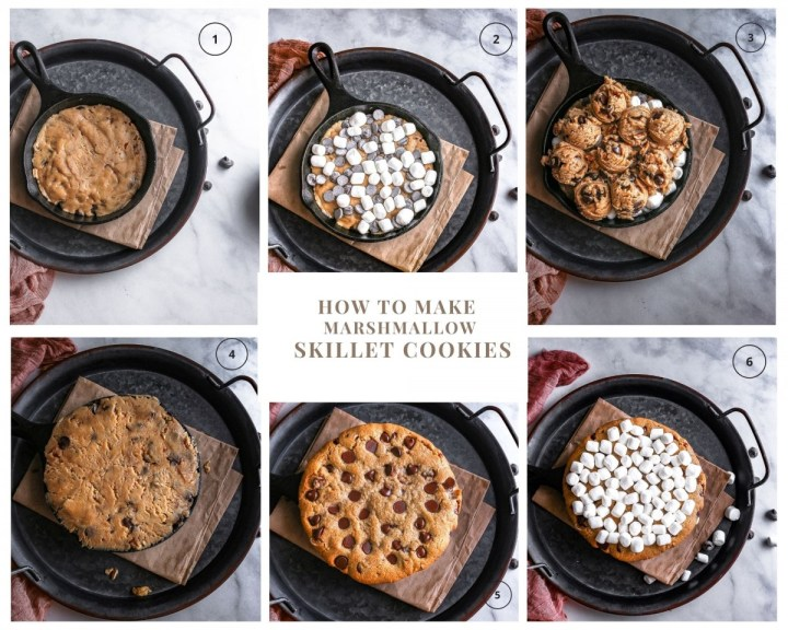 how to make chocolate chips skillet cookies