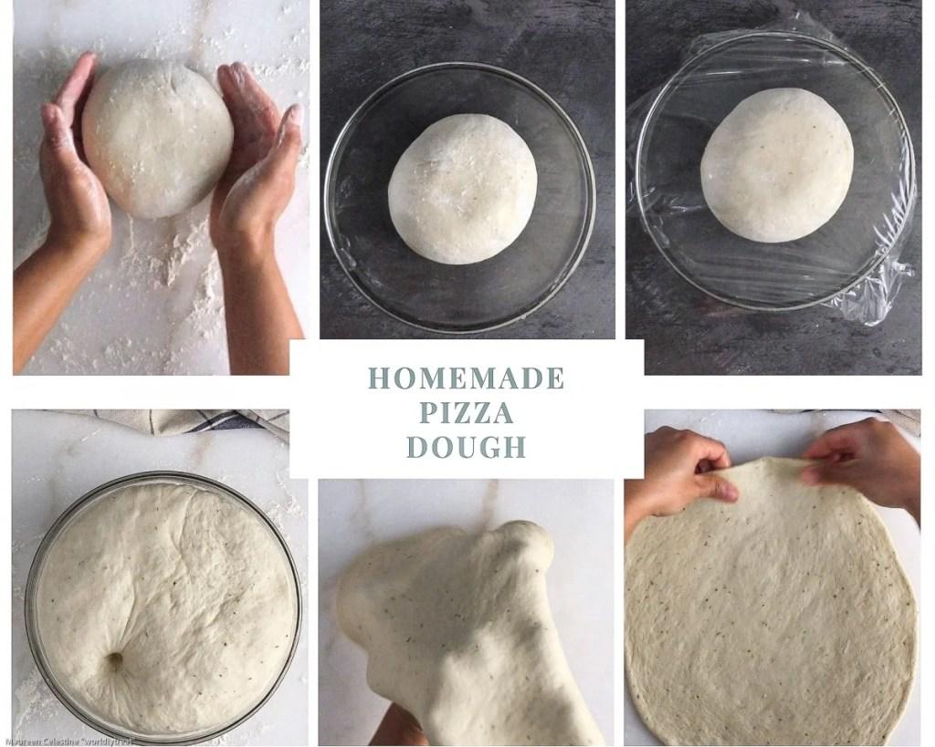 Process of making pizza dough