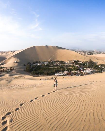 huacachina oasis in desert peru