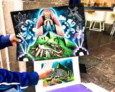 painting of machu picchu