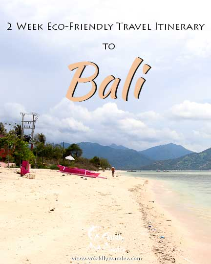 Lessen your footprint in Bali