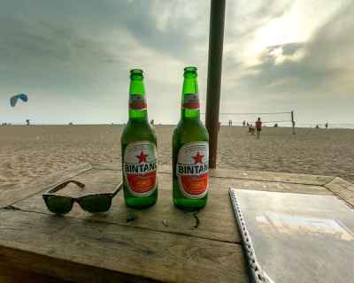 Things to do in Canggu: Grab a beer at Berawa Beach