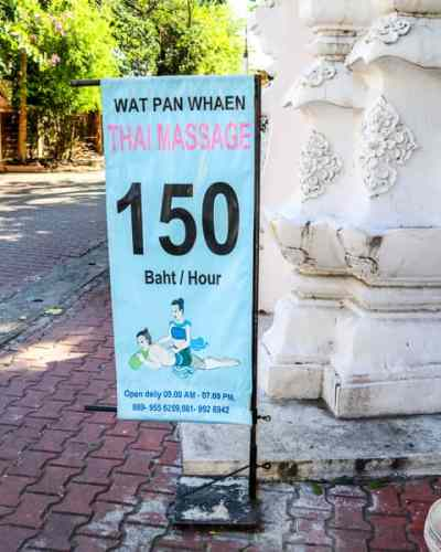 Budget Friendly things to do in Chiang Mai: Get a Thai Massage