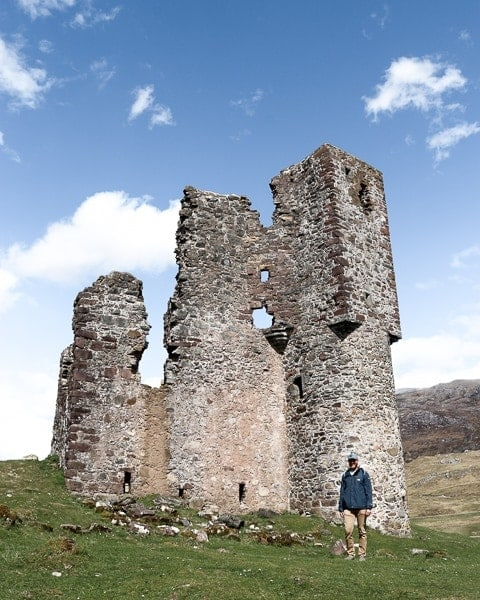 NC500 Road Trip Itinerary - Ardveck Castle