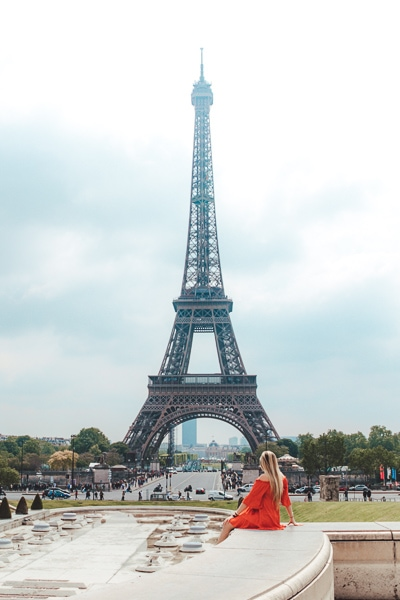 Best Instagram Spots Eiffel Tower Stairs at Trocadero Gardens
