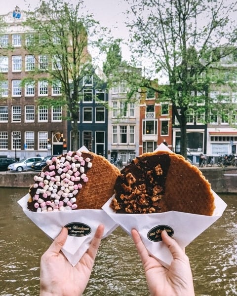 Cheap things to do in Amsterdam budget guide - Stroopwafels