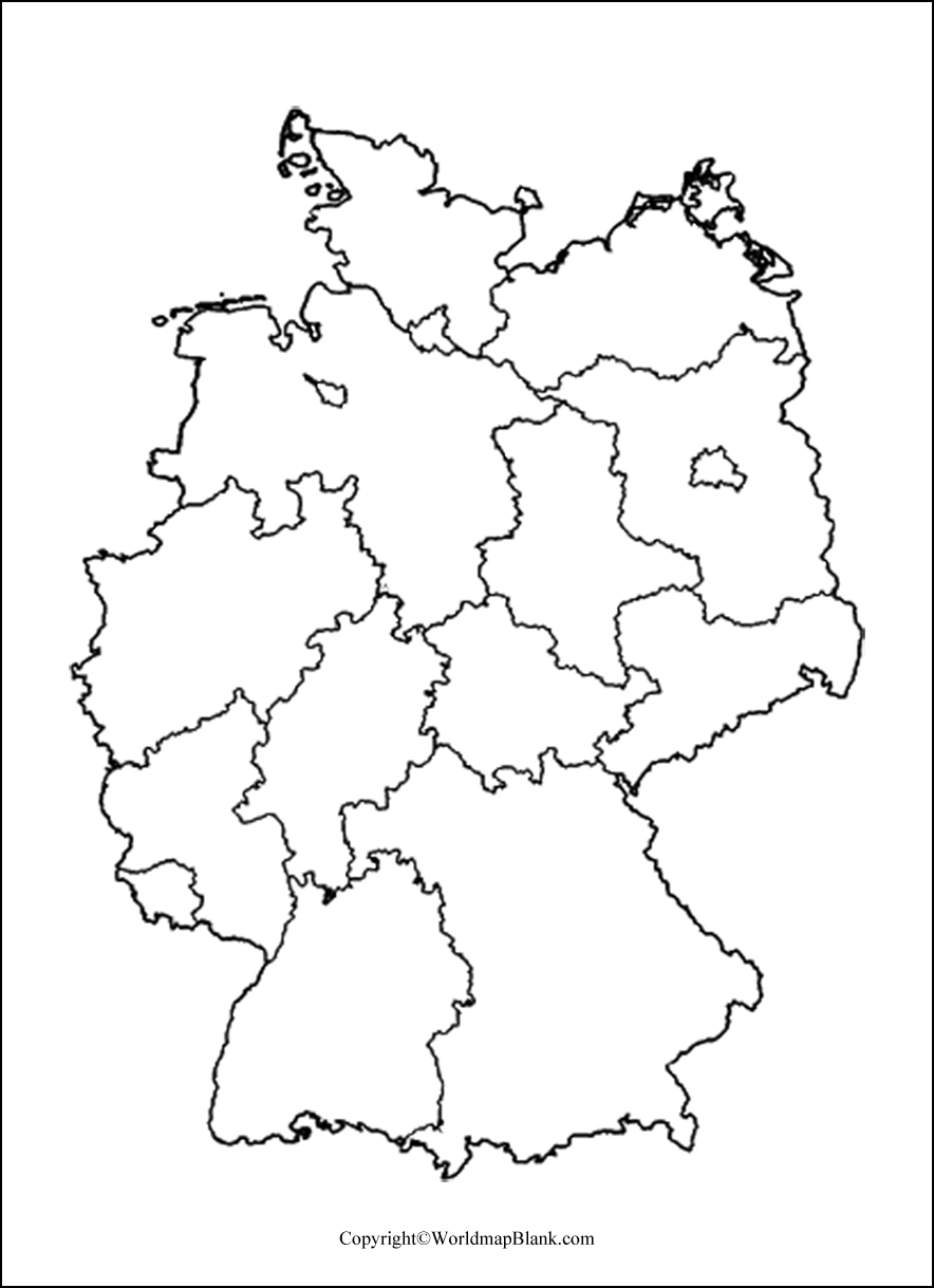 Blank Map Of Germany : blank, germany, Printable, Blank, Germany, Outline,, Transparent,