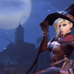 mercy from overwatch in her halloween skin