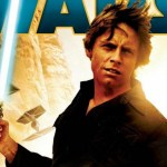 the cover art from heir to the jedi, featuring luke skywalker holding a lightsaber