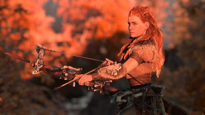 aloy draws her bow