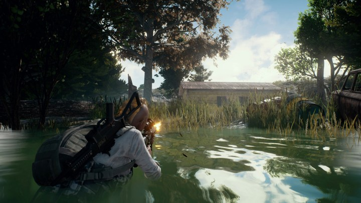 PUBG water wading with a gun