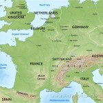 Large Map Of Europe Physical World Map With Countries