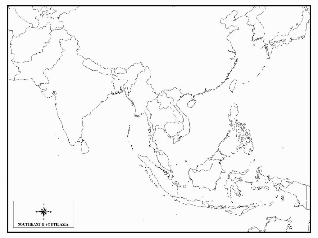 Southeast Asia Map Blank unlabeled map of east asia Blank