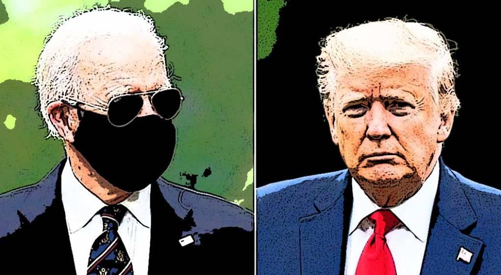 US President Joe Biden and Donald Trump
