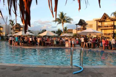 Owner drinks at Wyndham Resort Denarau Island