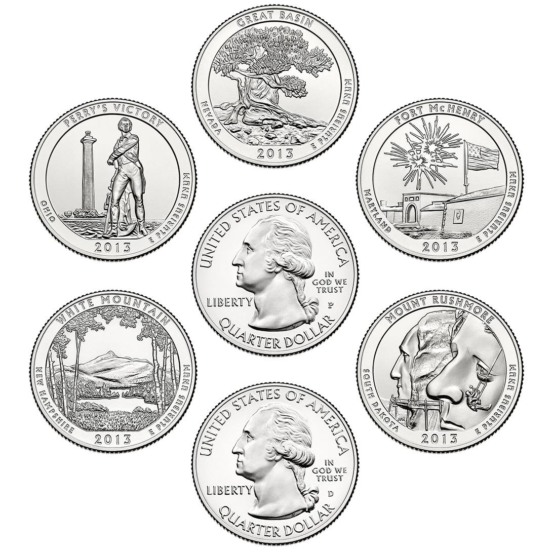 America The Beautiful Quarters Circulating Coin Set
