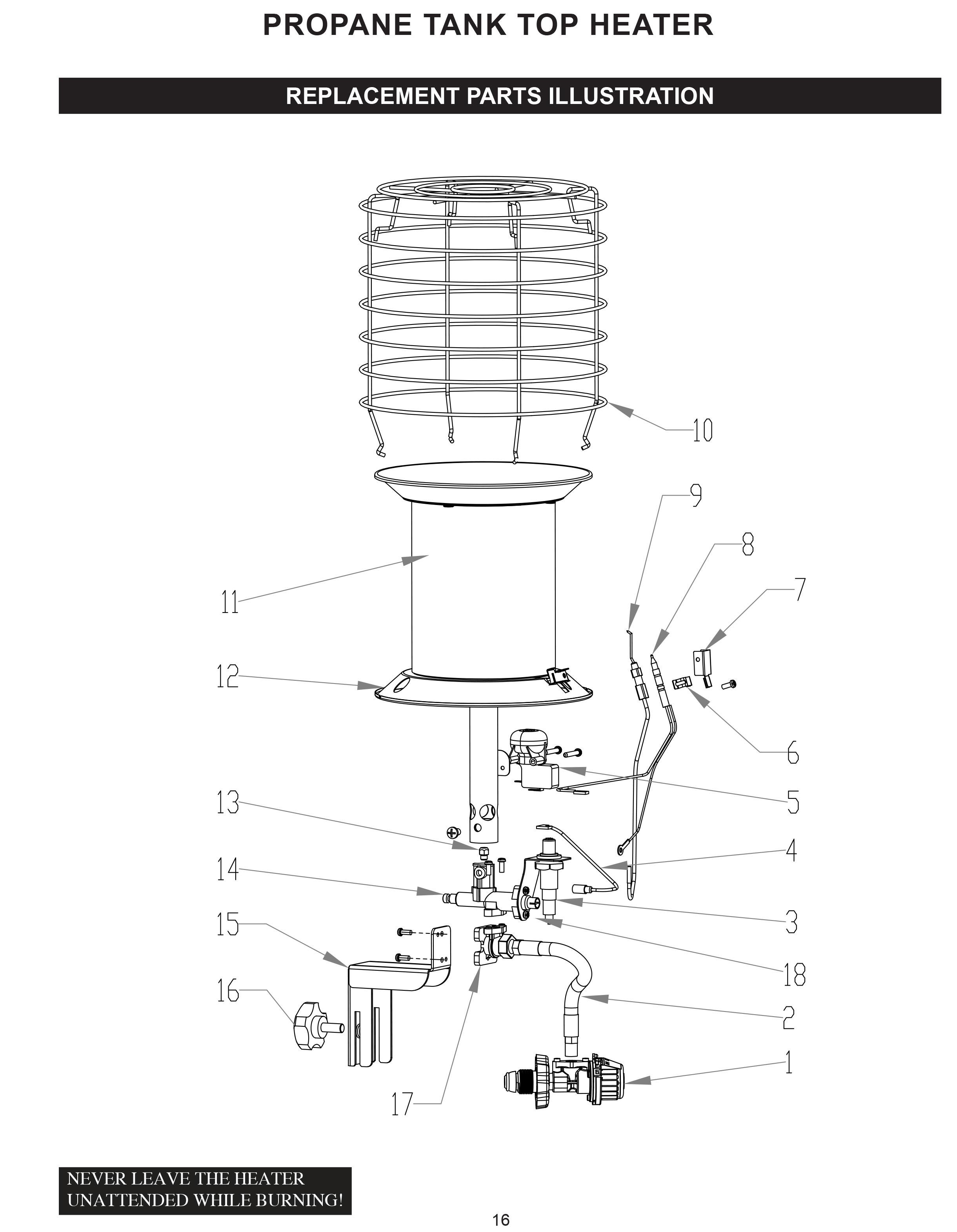 Dura Heat Tt 360 Propane Lp 360 Degree Tank Top Heater