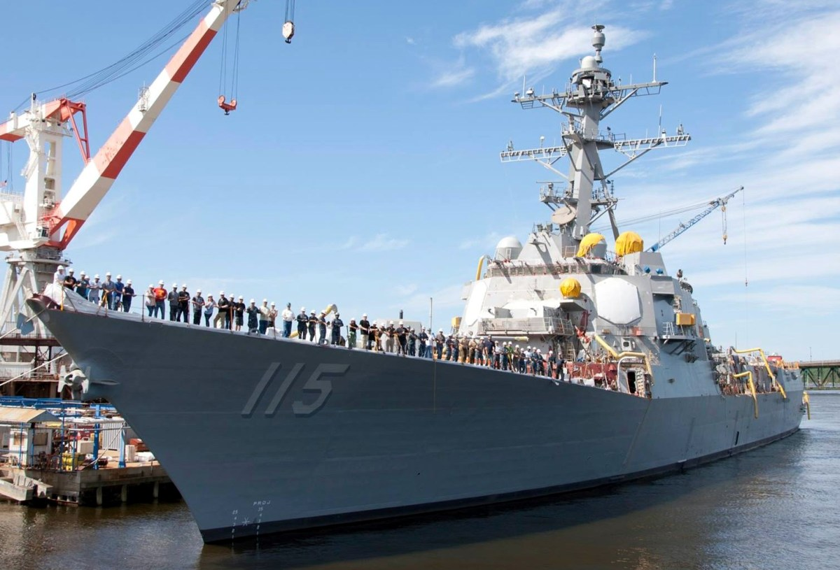 US Navy Commissioned New Guided-Missile Destroyer USS Rafael Peralta (DDG-115)