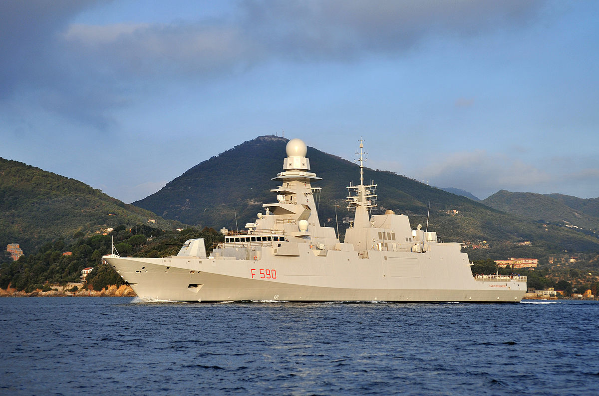 Italy; 7th of Carlo Bergamini-class frigate (FREMM) conducted her maiden voyage