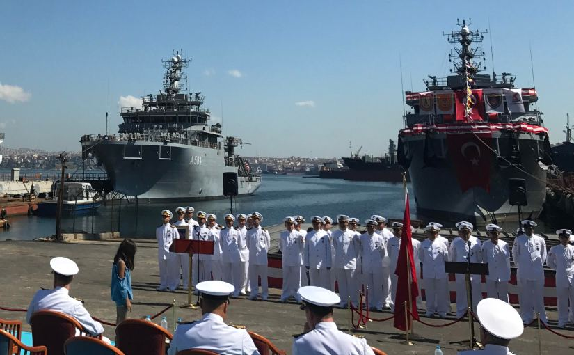 Turkey; 1st ship of RATSHIP project, TCG IŞIN (A-583) commisioned to Navy on 22 July