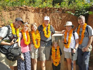 The Denbigh family in Salleni, Nepal - Libby, our newest Board member on the right