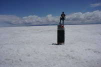 Getting stepped on at the Salt Flats Bolivia