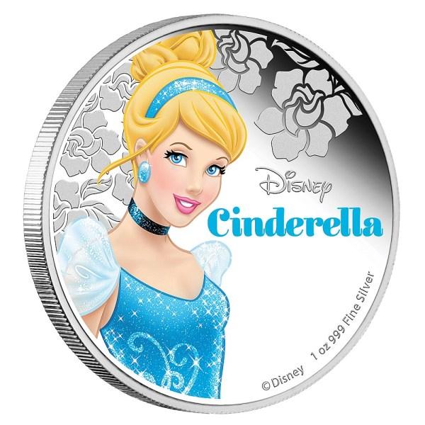 Cinderella Silver coin from Disney Princess Collection Reverse