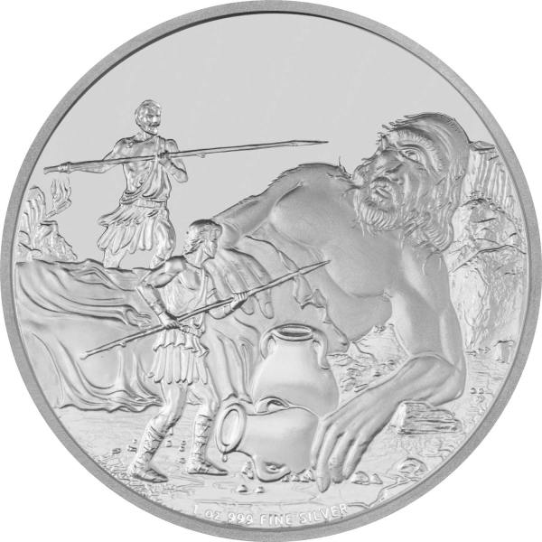 New Zealand 2016 Cyclopes Silver Coin Reverse from Creatures of Greek Mythology Series