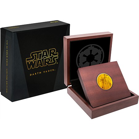 2016 Star Wars Darth Vader 1/4oz Gold Coin in Display Case