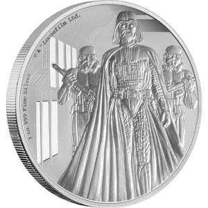 2016 Star Wars Darth Vader 1oz Silver Coin Reverse