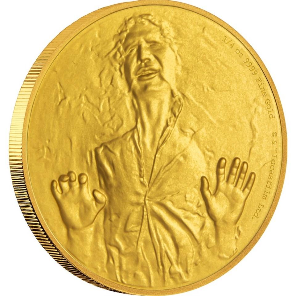 2016 Star Wars Han Solo 1/4oz Gold Coin Reverse