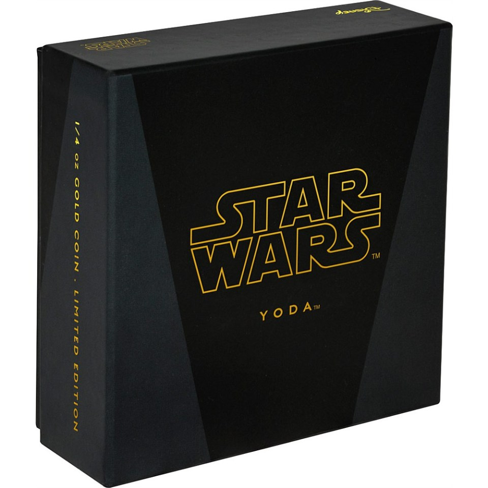2016 Star Wars Yoda 1oz Gold Coin Box