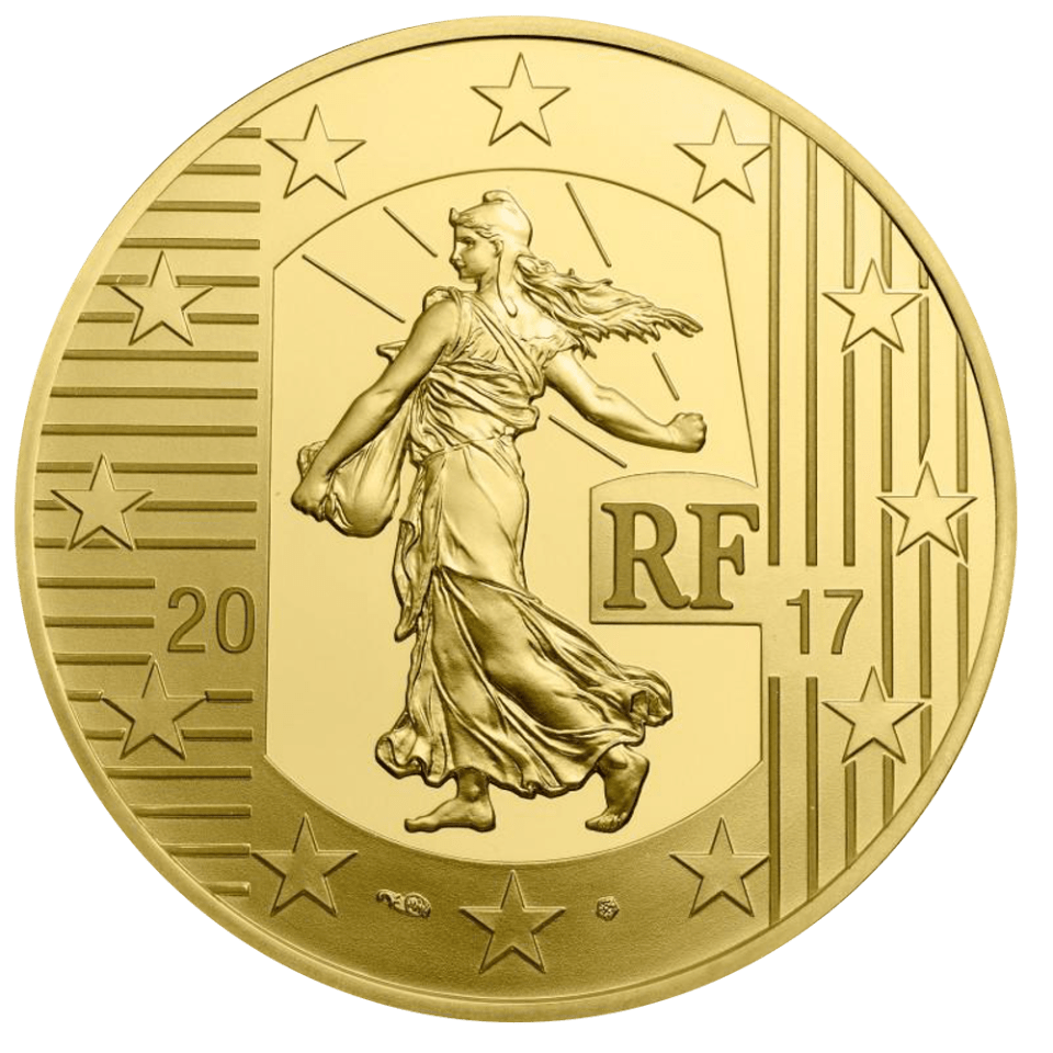 France 2017 The Sower Gold Coin Obverse - Louis d'Or