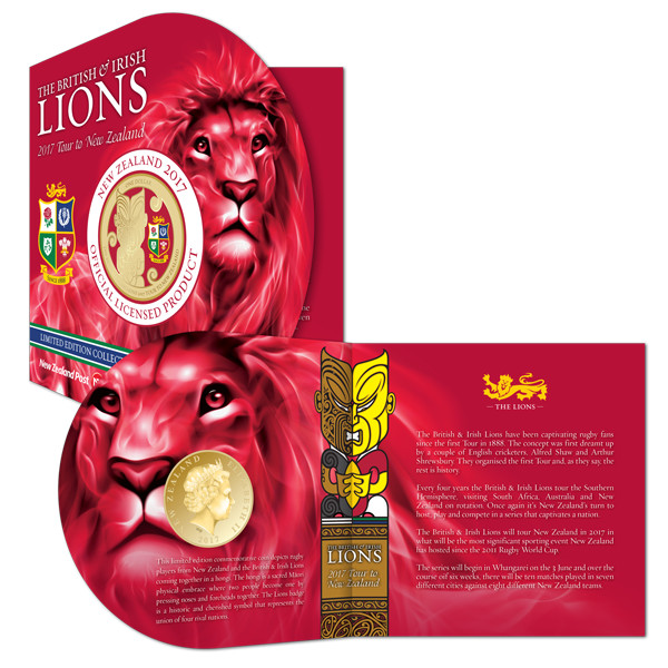 New Zealand 2017 British and Irish Lions Coin Packaging
