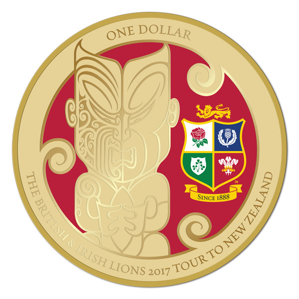 New Zealand 2017 British and Irish Lions Coin Reverse