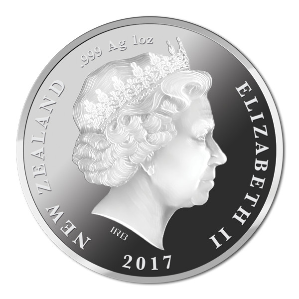 New Zealand 2017 British and Irish Lions Silver Coin Obverse