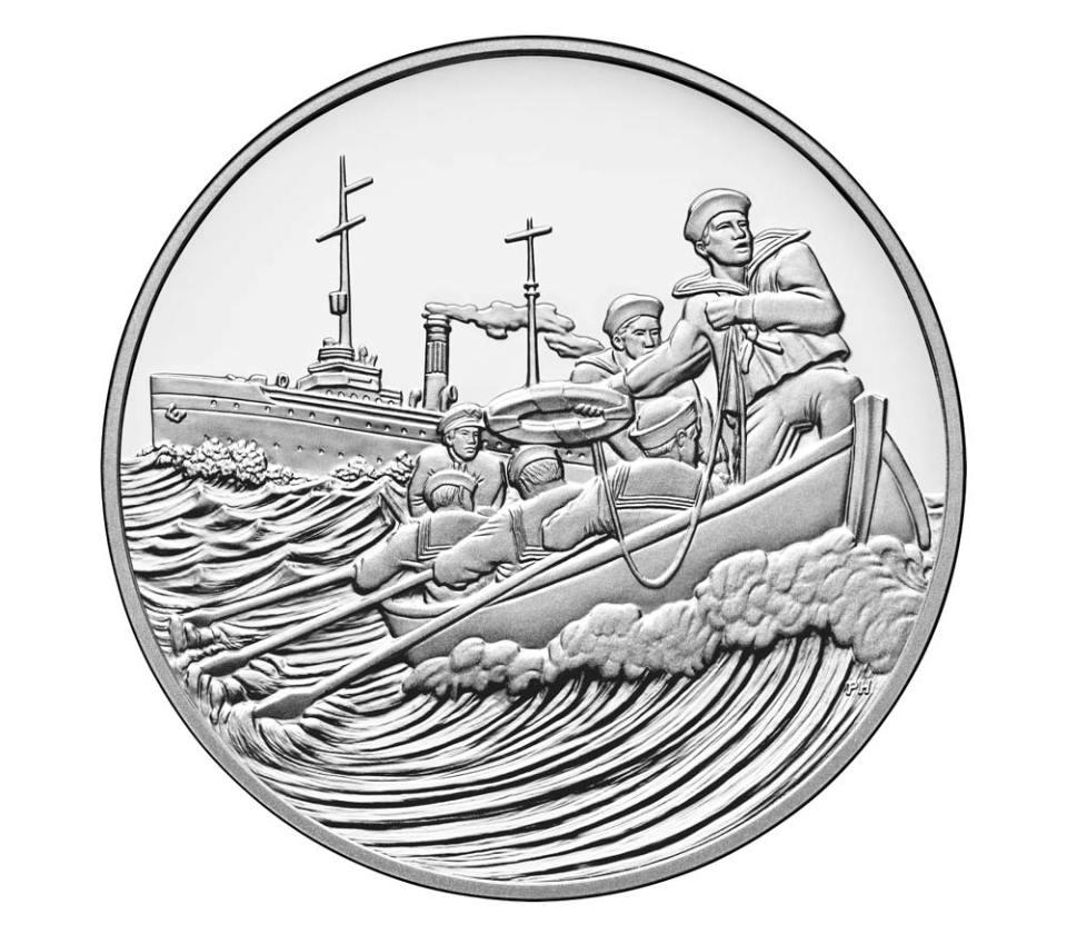 USA WWI Centennial Coast Guard Silver Medal Obverse