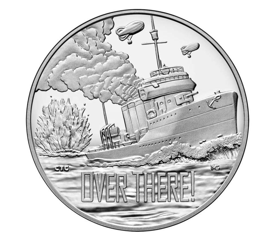 USA WWI Centennial Navy Silver Medal Obverse