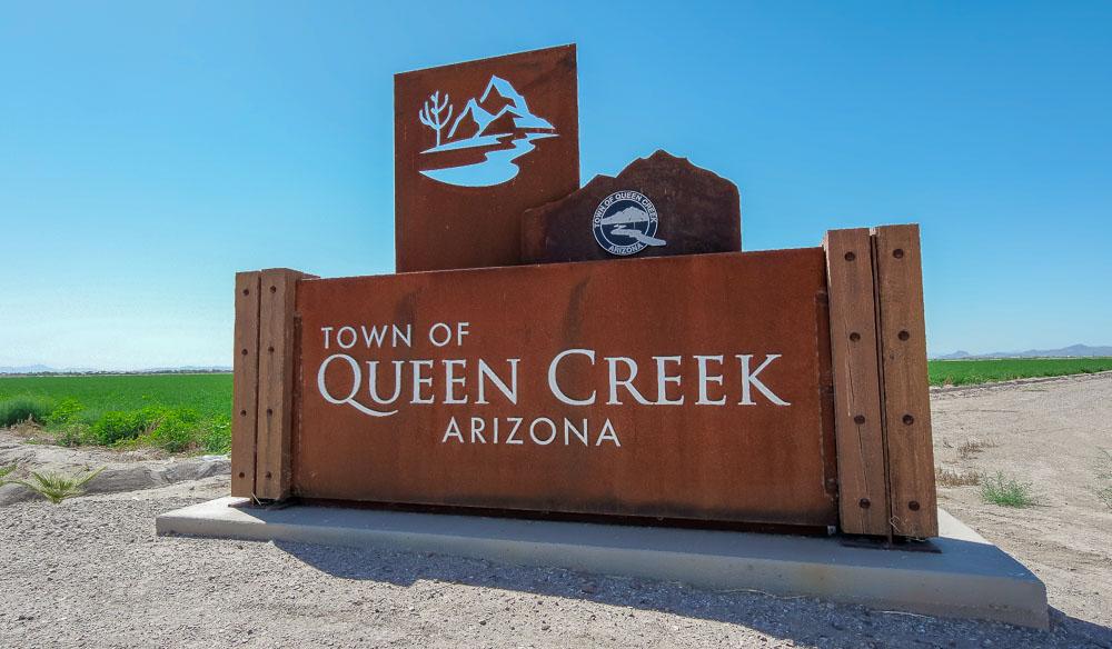 Town Of Queen Creek, Arizona Sign